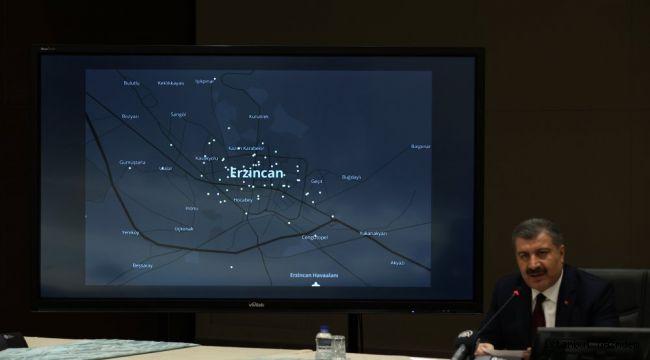 Erzincan'da Koronavirüs Vakalarının Gösterildiği Harita Paylaşıldı