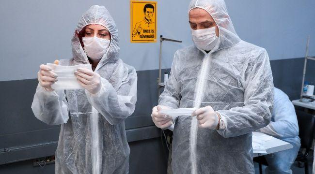 Gaziosmanpaşa'da Günlük 100 Bin Cerrahi Maske Üretiliyor