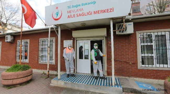 Gaziosmanpaşa'da Tüm Sokaklar Yıkanıp Dezenfekte Ediliyor