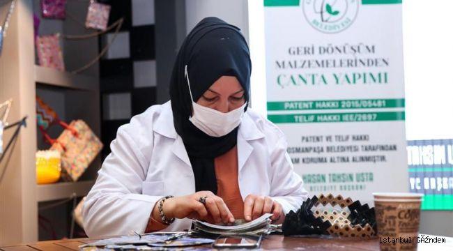 Gaziosmanpaşalı Kadınlar Geri Dönüşüm Malzemelerini Çantaya Dönüştürüyor