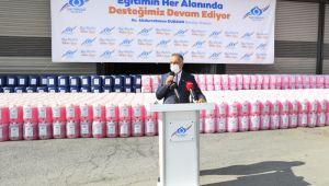 Sultangazi'den Okullara 103 Tonluk Temizlik Malzemesi