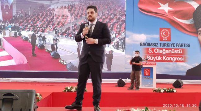 BTP Kongresi'nde Genel Başkanlığa Hüseyin Baş Seçildi