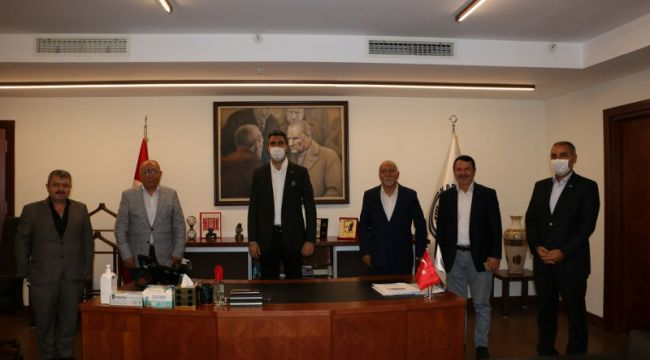 Erzincan Konfederasyonu Başkan Yüksel'i Ziyaret Etti