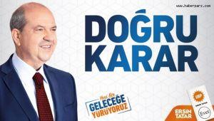 KKTC'de Cumhurbaşkanlığına Ersin Tatar Seçildi