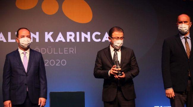 Eyüpsultan Belediyesi'ne 'Altın Karınca' Ödülü