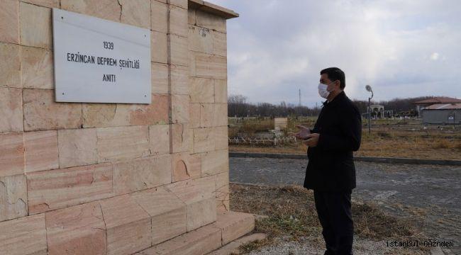 Başkan Aksun'dan Erzincan Deprem Şehitliği Anıtına Ziyaret