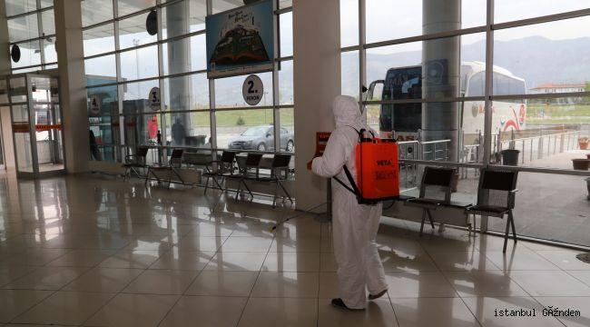 Erzincan'da Camiler ve Otogar Dezenfekte Edildi