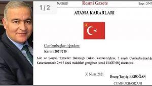 ''GÖNÜLLERİN BAŞKANI'' ERGÜNEŞ, BAKAN YARDIMCISI OLDU...
