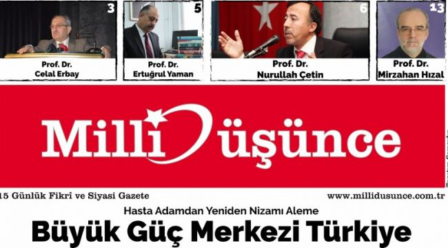 İDE'den ''Milli Düşünce E-Gazete''...