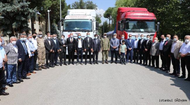 Sinop'taki Selzedeler İçin Erzincan'dan Yardım Tırları Yola Çıktı!