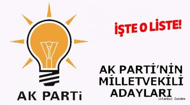 AK Parti Milletvekili Aday Listesi