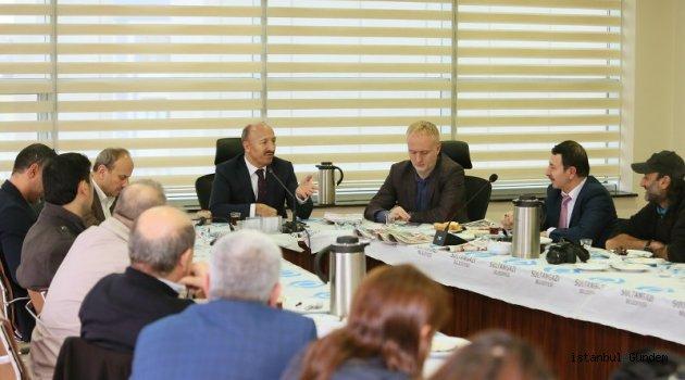 Başkan Altunay Yerel Basın Mensuplarını Ağırladı