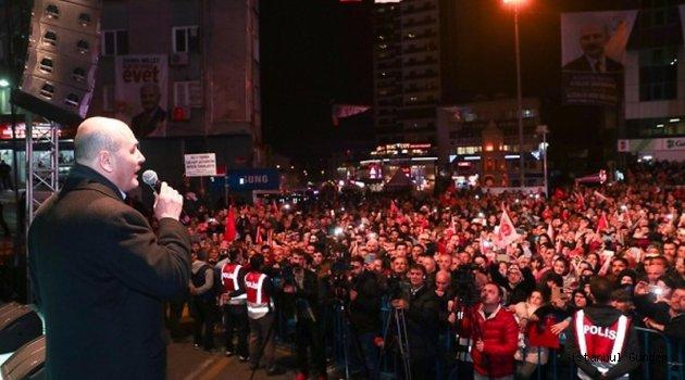 İçişleri Bakanı Soylu Küçükköy'de Konuştu
