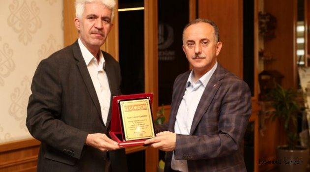 İstanbul GÜNDEM Gazetesi Haber Müdürü Arıcı'dan Başkan Çağrıcı' ya Ziyaret