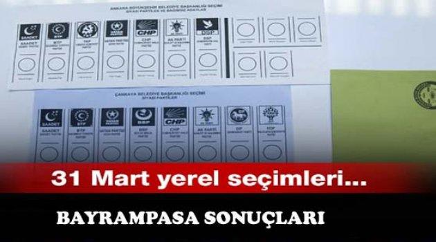 31 Mart Yerel Seçimleri Bayrampaşa Sonuçları