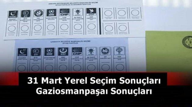 31 Mart Yerel Seçimleri Gaziosmanpaşa Sonuçları