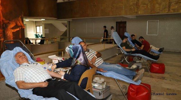 Erzincan'da Belediye Çalışanları Kan Verdi
