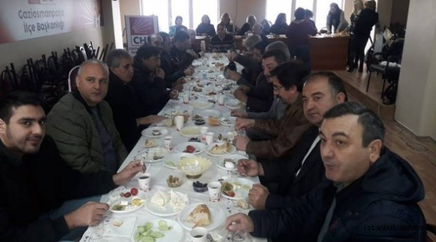 Gaziosmanpaşa CHP İlçe Başkanı Dağdeviren Mahalle Başkanları İle Buluştu