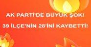AK Parti İstanbul'da 28 İlçede Kaybetti